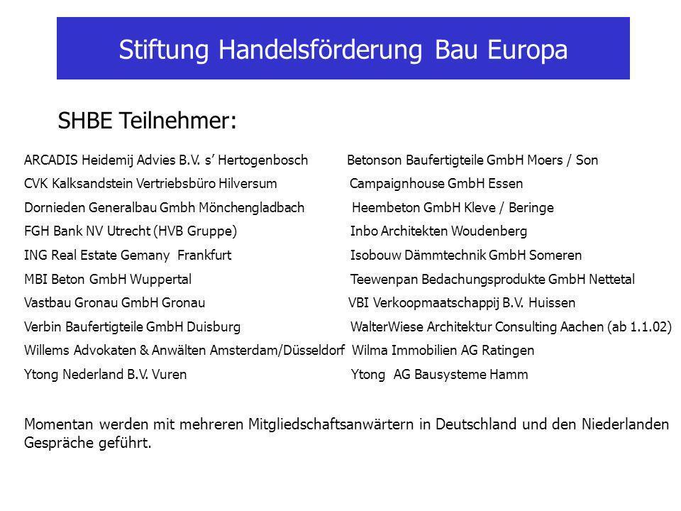 Stiftung Handelsförderung Bau Europa ARCADIS Heidemij Advies B.V.