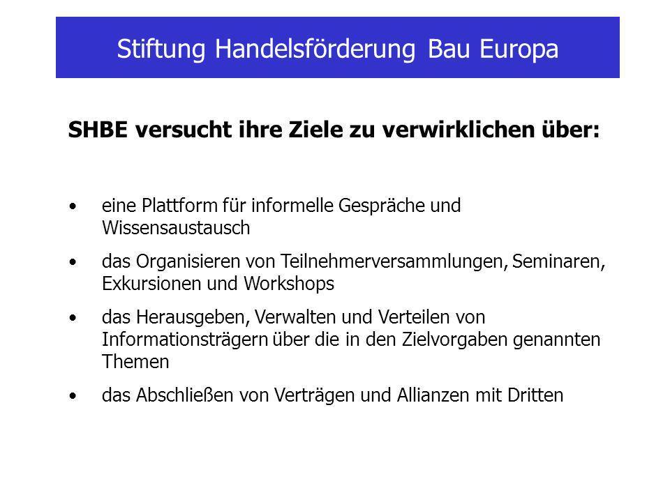 Stiftung Handelsförderung Bau Europa Stiftungsvorstand : H.J.