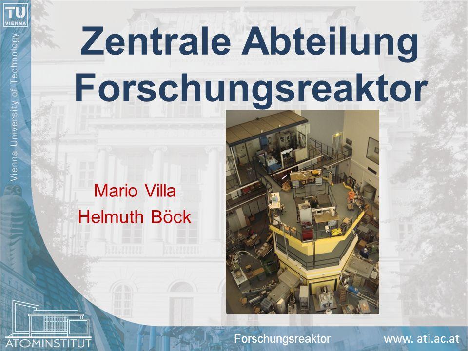 www. ati.ac.at Zentrale Abteilung Forschungsreaktor Mario Villa Helmuth Böck Forschungsreaktor