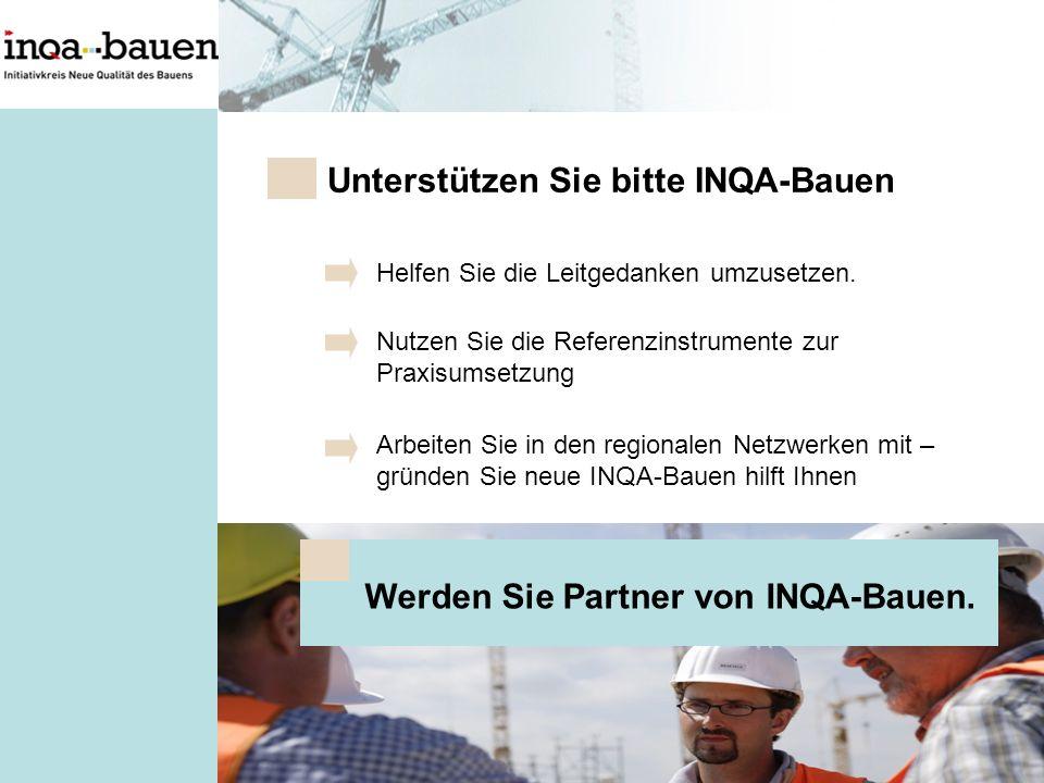 Werden Sie Partner von INQA-Bauen.