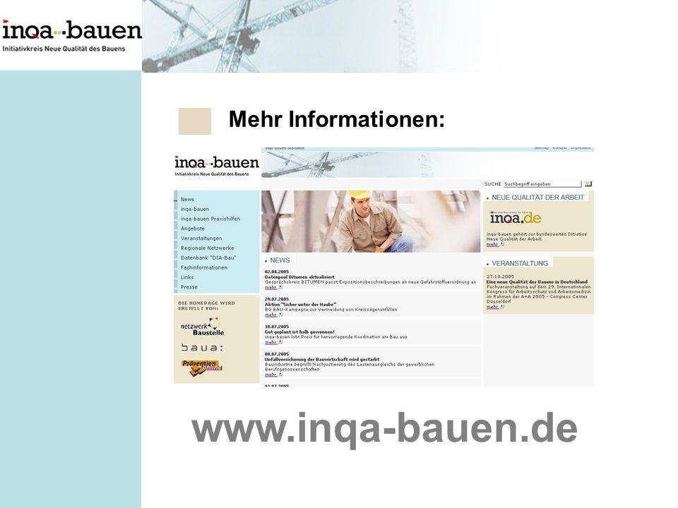 Mehr Informationen: www.inqa-bauen.de