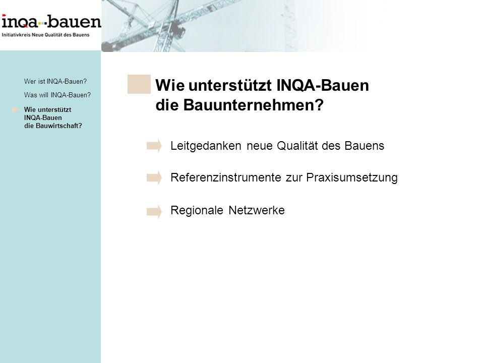 Wie unterstützt INQA-Bauen die Bauunternehmen.