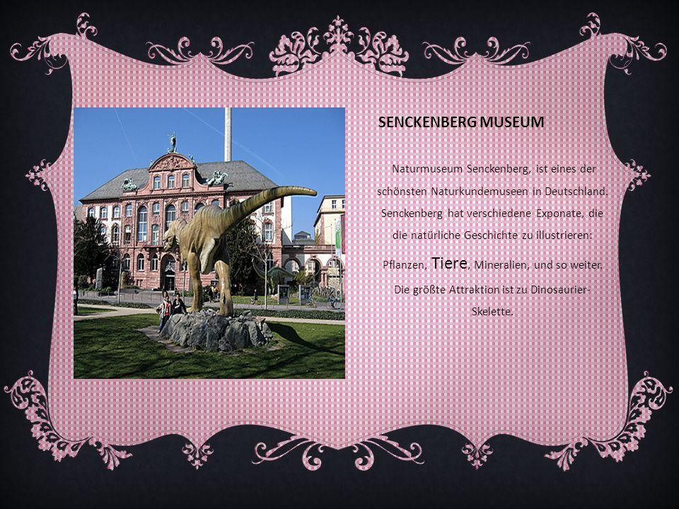 SENCKENBERG MUSEUM Naturmuseum Senckenberg, ist eines der schönsten Naturkundemuseen in Deutschland. Senckenberg hat verschiedene Exponate, die die na