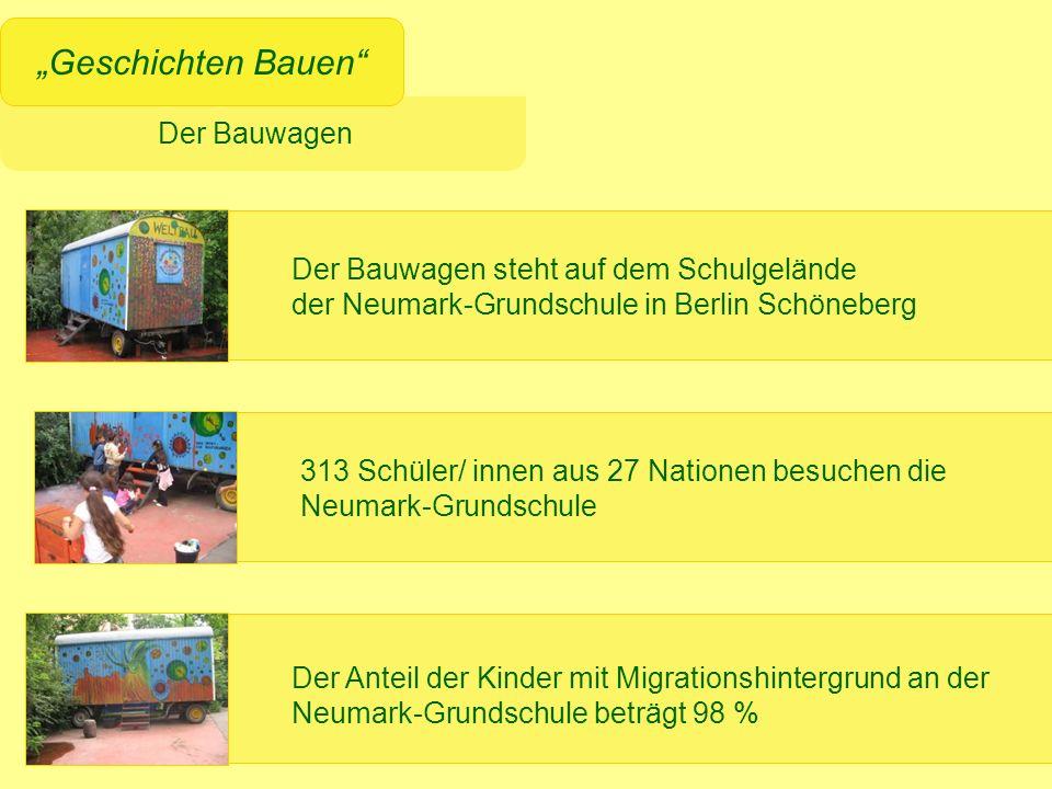Der Bauwagen Geschichten Bauen 313 Schüler/ innen aus 27 Nationen besuchen die Neumark-Grundschule Der Anteil der Kinder mit Migrationshintergrund an