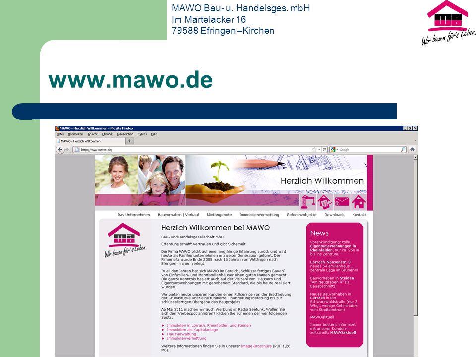 www.mawo.de MAWO Bau- u. Handelsges. mbH Im Martelacker 16 79588 Efringen –Kirchen