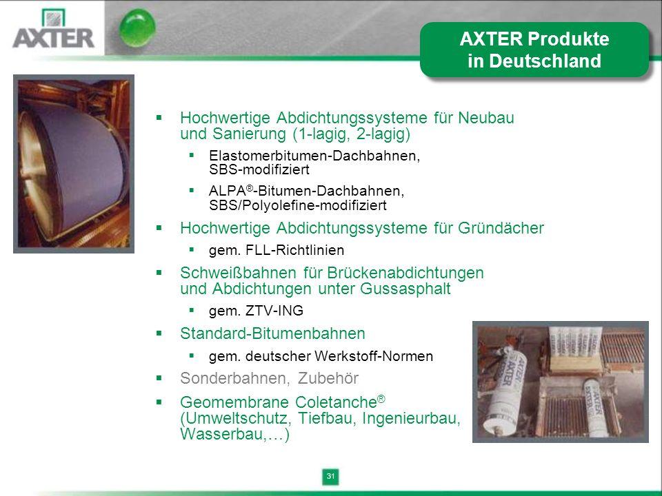 31 Hochwertige Abdichtungssysteme für Neubau und Sanierung (1-lagig, 2-lagig) Elastomerbitumen-Dachbahnen, SBS-modifiziert ALPA ® -Bitumen-Dachbahnen,