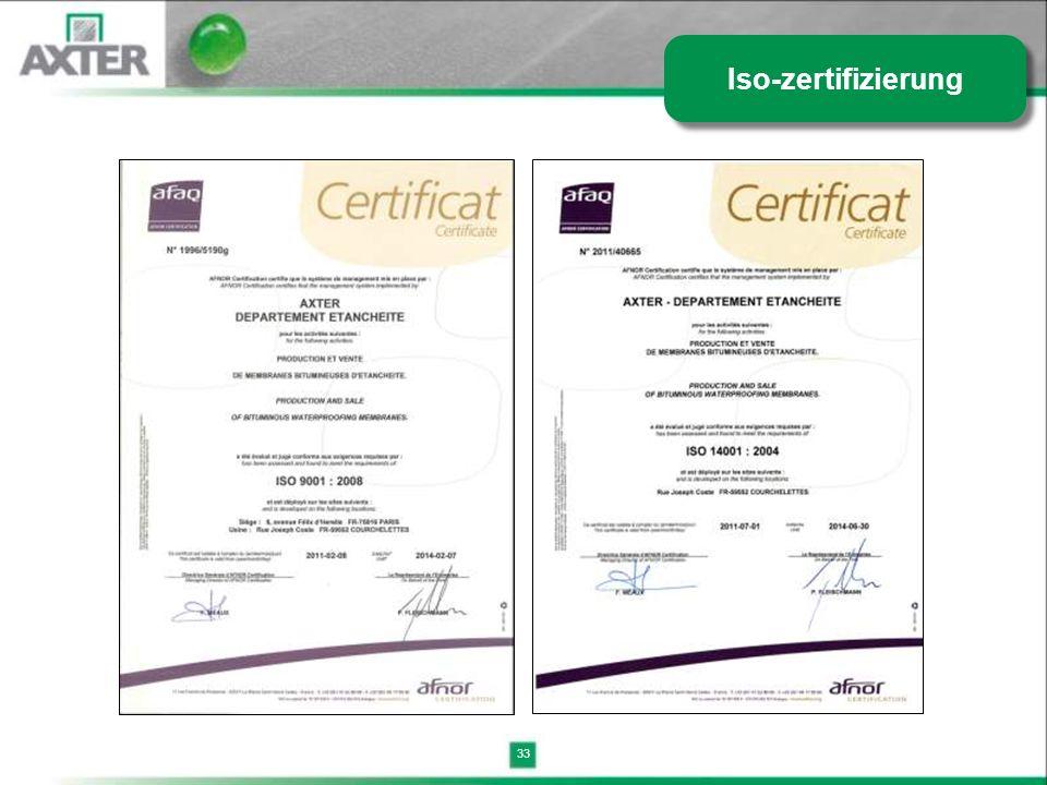 33 Iso-zertifizierung