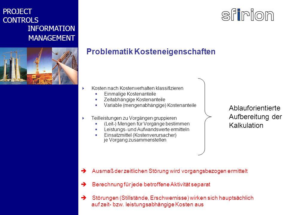 NACHRTRAGS- MANAGEMENT BMW-WELT PROJECT CONTROLS INFORMATION MANAGEMENT Problematik Kosteneigenschaften Kosten nach Kostenverhalten klassifizieren Ein