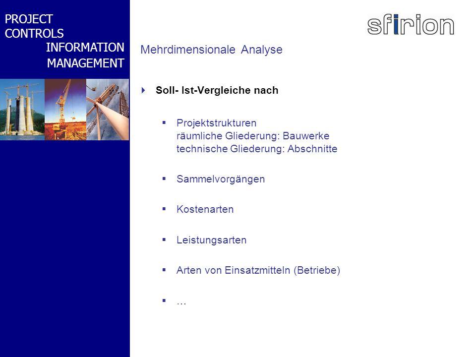 NACHRTRAGS- MANAGEMENT BMW-WELT PROJECT CONTROLS INFORMATION MANAGEMENT Mehrdimensionale Analyse Soll- Ist-Vergleiche nach Projektstrukturen räumliche
