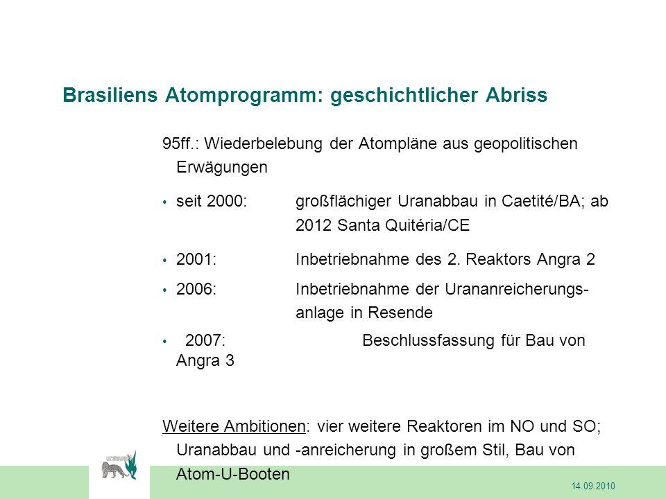Siemens KWU hat in den 80ern wesentliche Ausrüstungsgegenstände für Angra 2+3 geliefert.