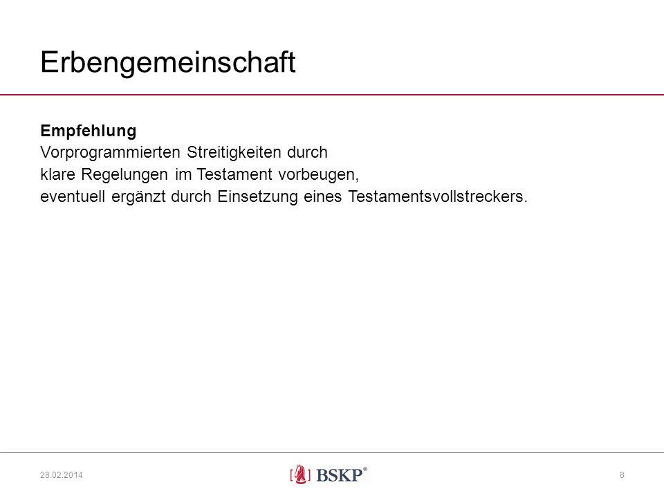 Erbengemeinschaft Empfehlung Vorprogrammierten Streitigkeiten durch klare Regelungen im Testament vorbeugen, eventuell ergänzt durch Einsetzung eines Testamentsvollstreckers.