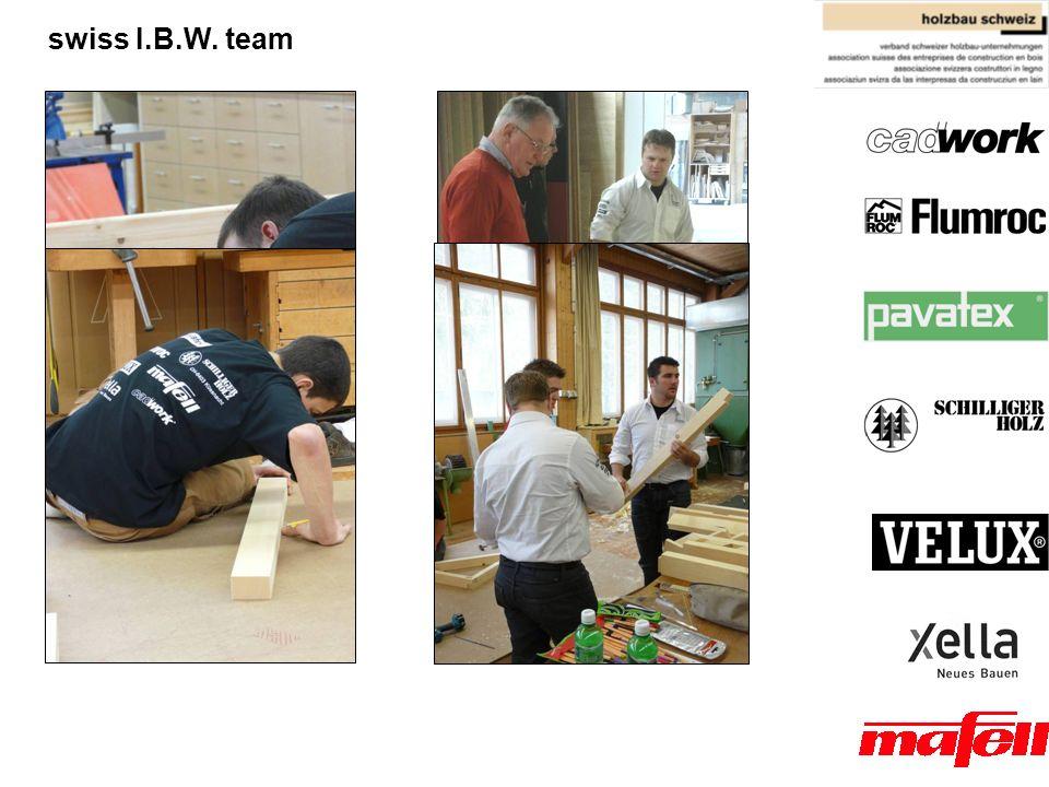 Architektur, Holz und Bau BFH - AHB Technikerschule HF Holz swiss I.B.W. team