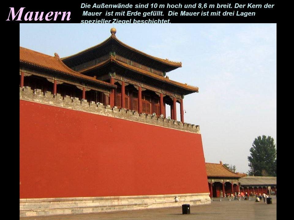 Mauern Die Außenwände sind 10 m hoch und 8,6 m breit.