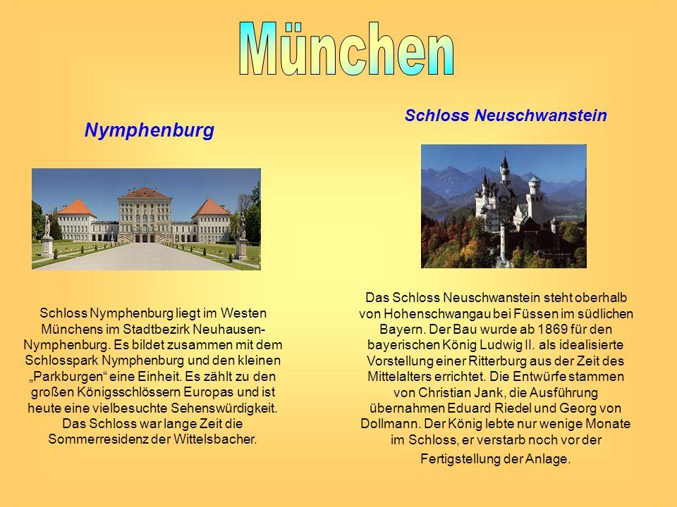 Nymphenburg Schloss Nymphenburg liegt im Westen Münchens im Stadtbezirk Neuhausen- Nymphenburg. Es bildet zusammen mit dem Schlosspark Nymphenburg und