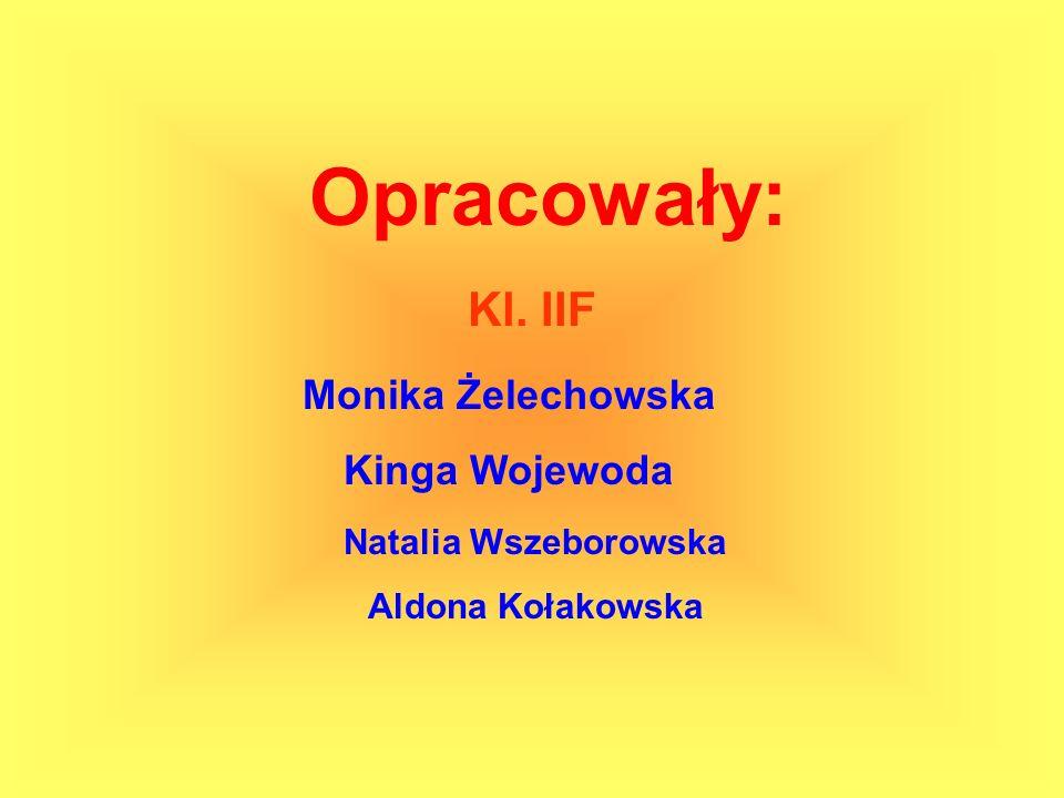 Opracowały: Monika Żelechowska Kinga Wojewoda Natalia Wszeborowska Aldona Kołakowska Kl. IIF