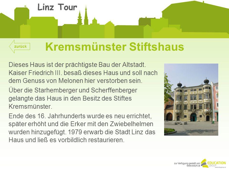 Kremsmünster Stiftshaus Dieses Haus ist der prächtigste Bau der Altstadt.