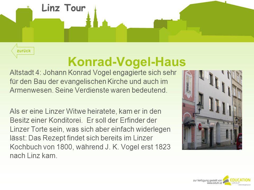 Konrad-Vogel-Haus Altstadt 4: Johann Konrad Vogel engagierte sich sehr für den Bau der evangelischen Kirche und auch im Armenwesen.