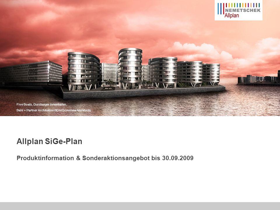 Five Boats, Duisburger Innenhafen, Bahl + Partner Architekten BDA/Grimshaw Architects Allplan SiGe-Plan Produktinformation & Sonderaktionsangebot bis 30.09.2009