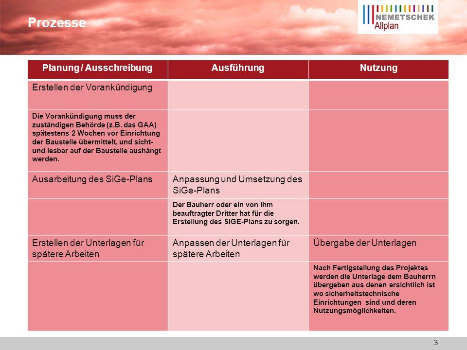 2 SiGe-Plan Warum? ca. 95% aller Bauvorhaben in Deutschland benötigen einen Sicherheits- und Gesundheitsschutzplan (die Bauvorhaben unterliegen der Ba