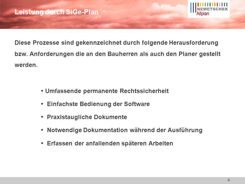 4 Leistung durch SiGe-Plan Diese Prozesse sind gekennzeichnet durch folgende Herausforderung bzw.