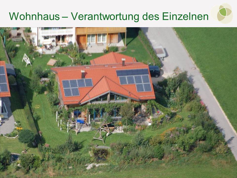 © FH-Prof. Dr. Bernhard Zimmer – Berchtesgaden, 07.10.2011 Wohnhaus – Verantwortung des Einzelnen