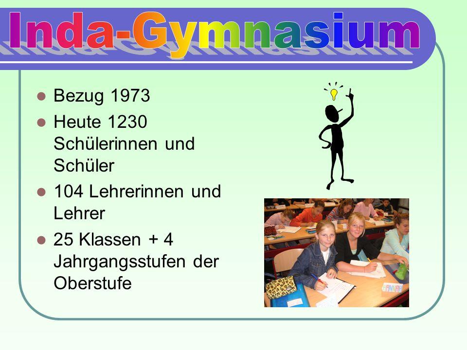 Bezug 1973 Heute 1230 Schülerinnen und Schüler 104 Lehrerinnen und Lehrer 25 Klassen + 4 Jahrgangsstufen der Oberstufe