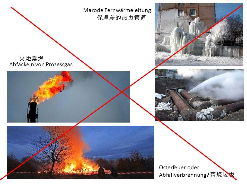 Osterfeuer oder Abfallverbrennung? Marode Fernwärmeleitung Abfackeln von Prozessgas