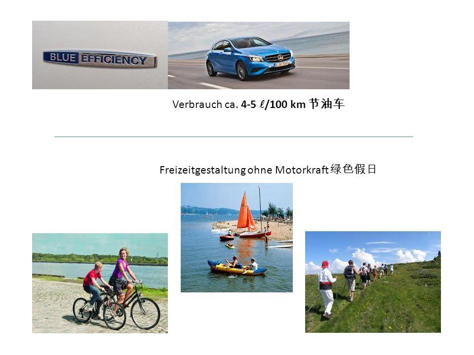 Verbrauch ca. 4-5 /100 km Freizeitgestaltung ohne Motorkraft