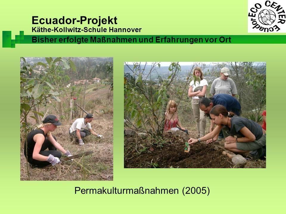 Ecuador-Projekt Käthe-Kollwitz-Schule Hannover Permakulturmaßnahmen (2005) Bisher erfolgte Maßnahmen und Erfahrungen vor Ort