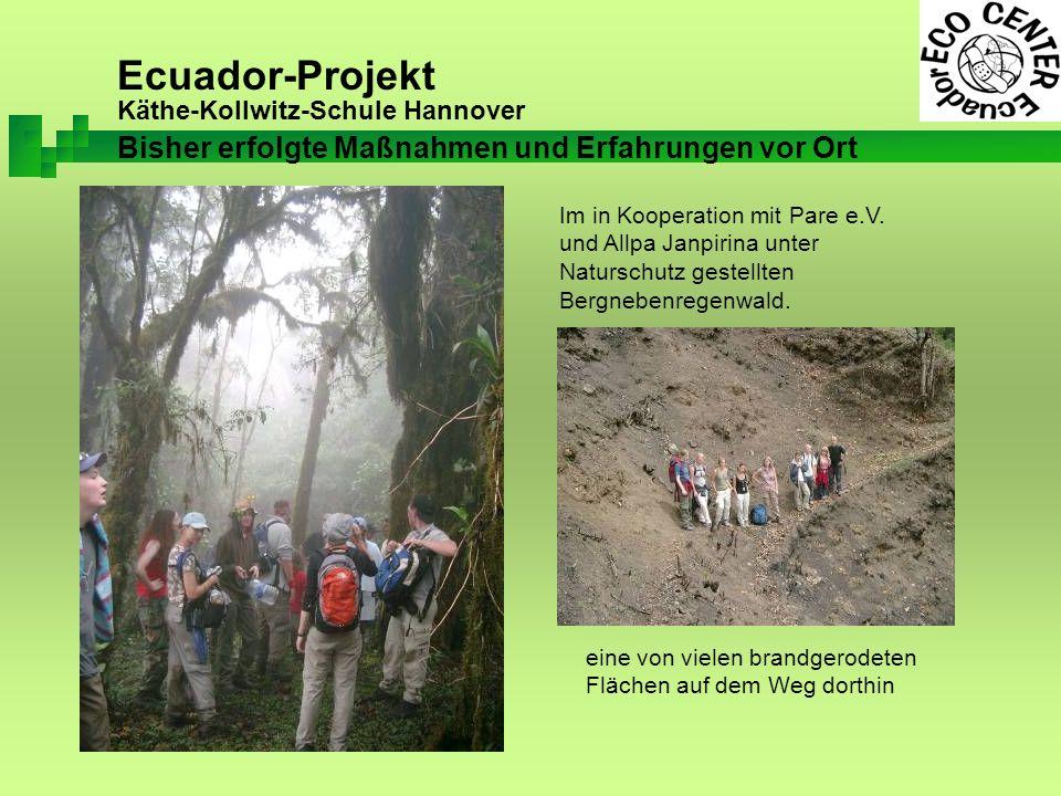 Ecuador-Projekt Käthe-Kollwitz-Schule Hannover Im in Kooperation mit Pare e.V.