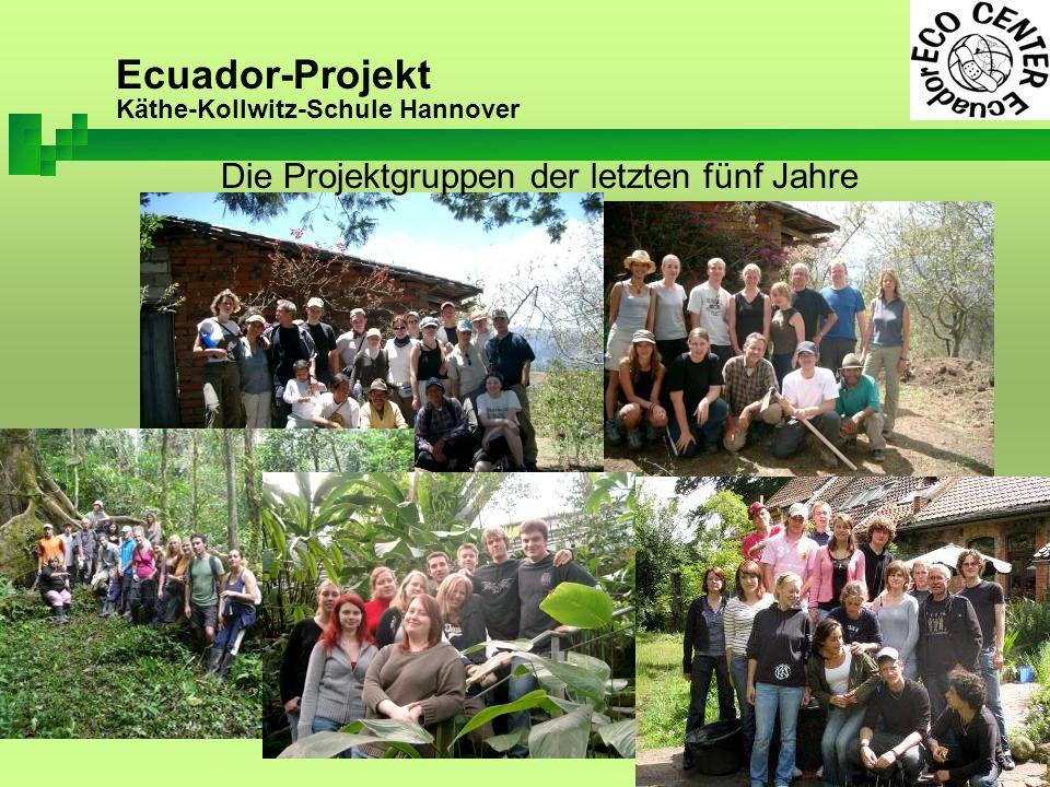 Ecuador-Projekt Käthe-Kollwitz-Schule Hannover erste Baumaßnahmen (2005) Bisher erfolgte Maßnahmen und Erfahrungen vor Ort