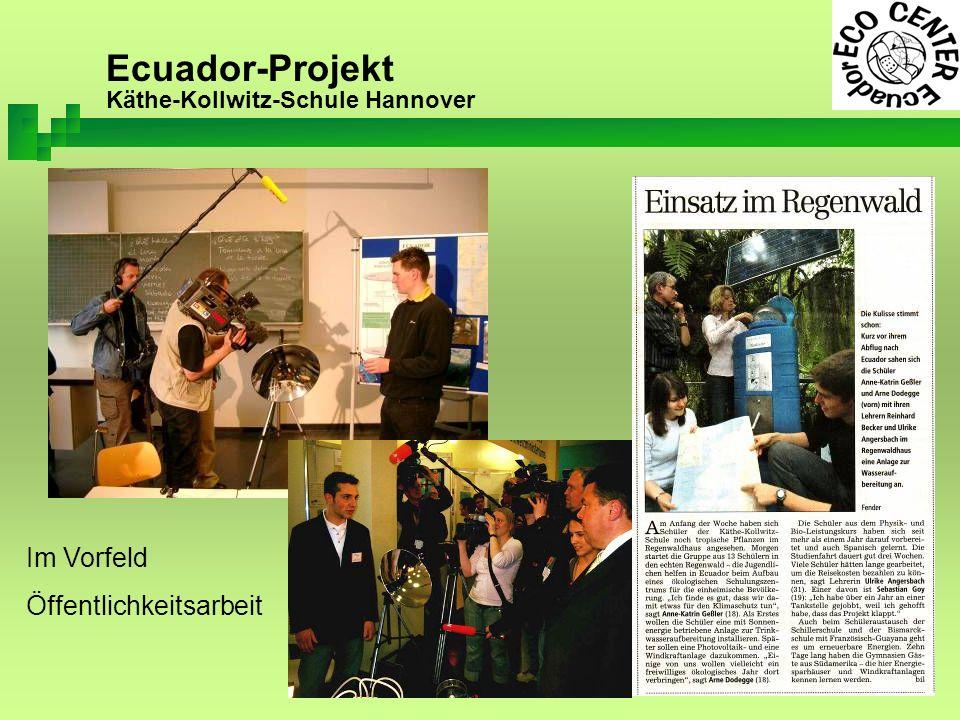 Ecuador-Projekt Käthe-Kollwitz-Schule Hannover Im Vorfeld Öffentlichkeitsarbeit