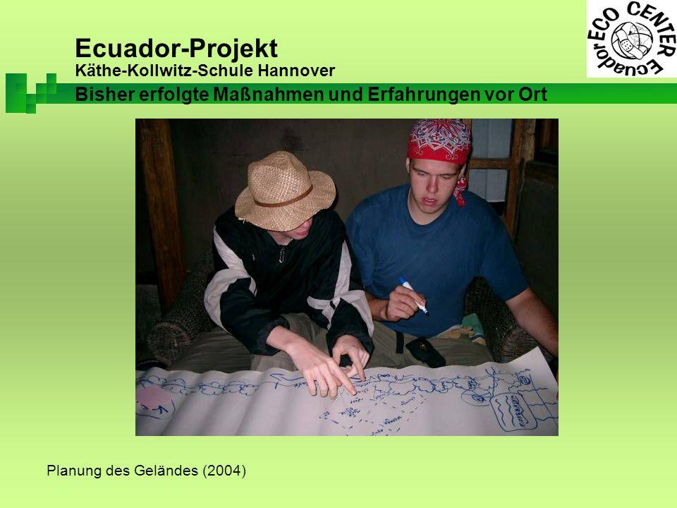 Ecuador-Projekt Käthe-Kollwitz-Schule Hannover Planung des Geländes (2004) Bisher erfolgte Maßnahmen und Erfahrungen vor Ort