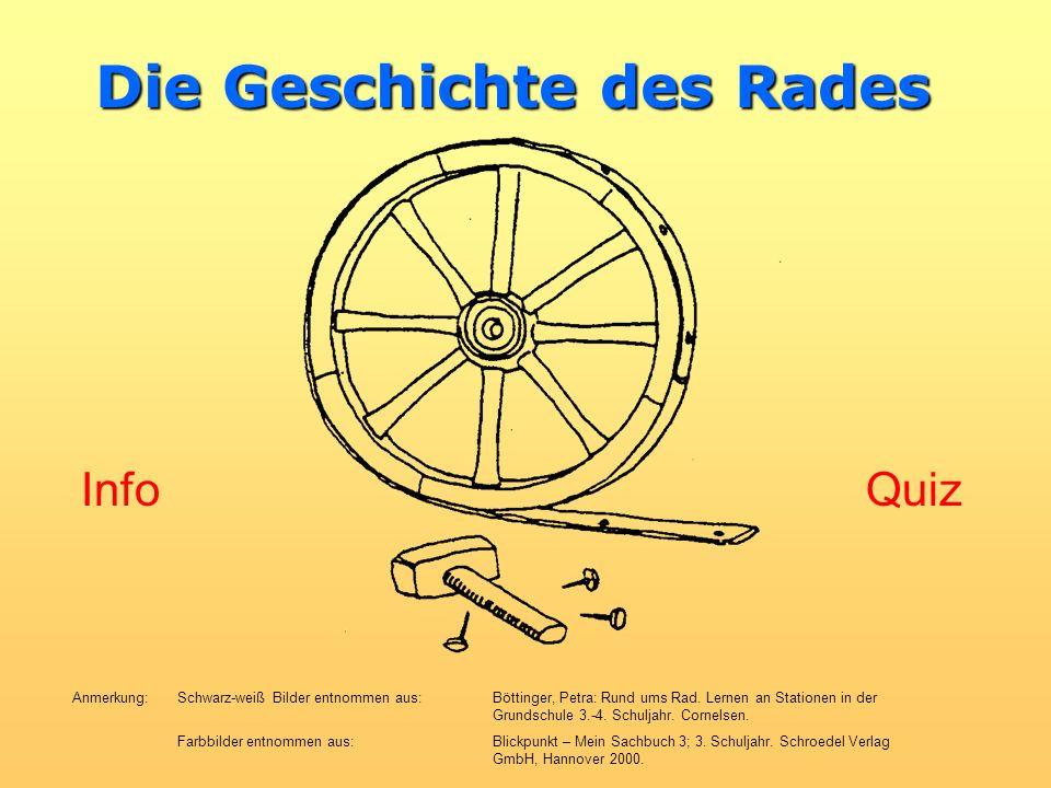Die ersten Scheibenräder waren aus Holz! Weiter