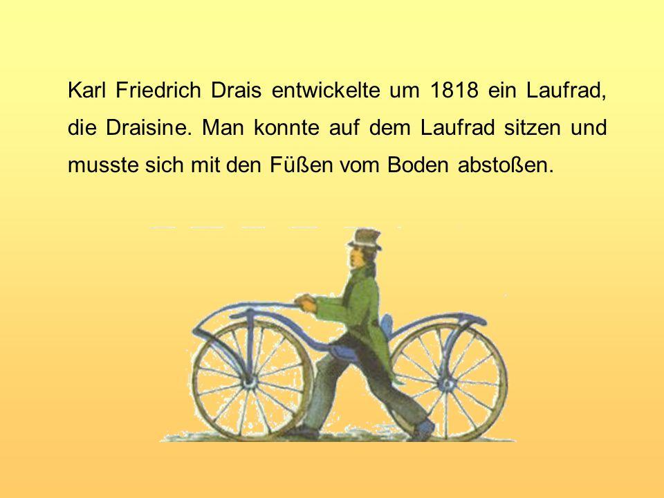 Etwa um 1800 wurden die Drahtspeichen erfunden. Die schräg eingesetzten Speichen machten die Räder noch leichter und belastbarer.