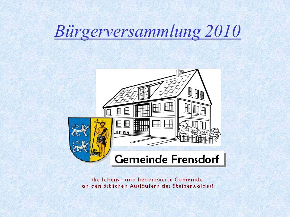 22 Sanierung und Erweiterung der Schule Frensdorf Zusätzlich zu den genannten Sanierungs- und Erweiterungsmaßnahmen hatte die Gemeinde den Altbau der Schule für die Energetische Sanierung im Rahmen des Konjunkturpakets II angemeldet.