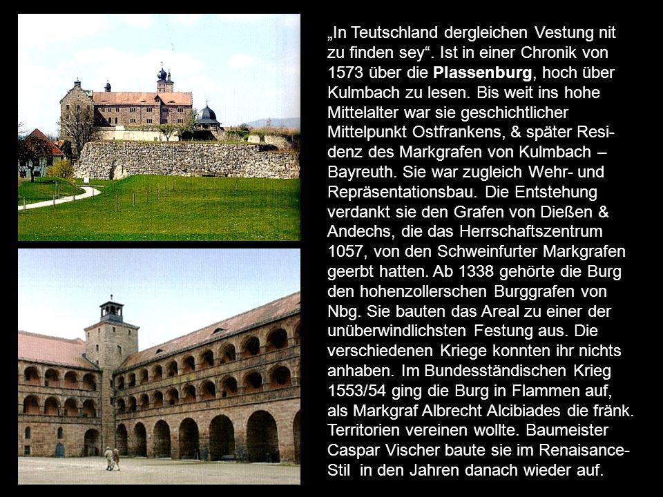 Ende des 16.Jh flaute die Sympathie ab, da die Stadt sich entschieden zur Reform bekannte. Die Kaiser kamen gern zur Burg, da sie eine strategisch wic
