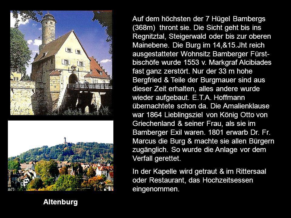 Altenburg Ansbacher Schloss Burg Abenberg Burg Colmberg Burg Egloffstein Burg Gößweinstein Burg Pappenheim Burg Pottenstein Plassenburg Burg Veldenste