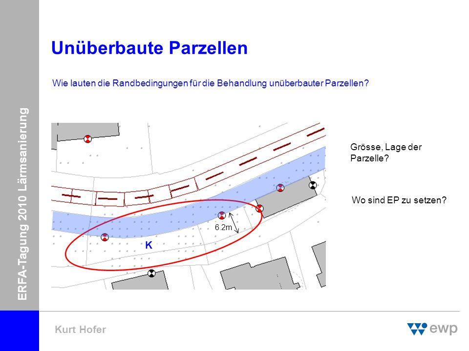 ERFA-Tagung 2010 Lärmsanierung Kurt Hofer Unüberbaute/teilüberbaute Parzellen WG4 Wie sind nicht realisierte Nutzungsreserven zu behandeln.