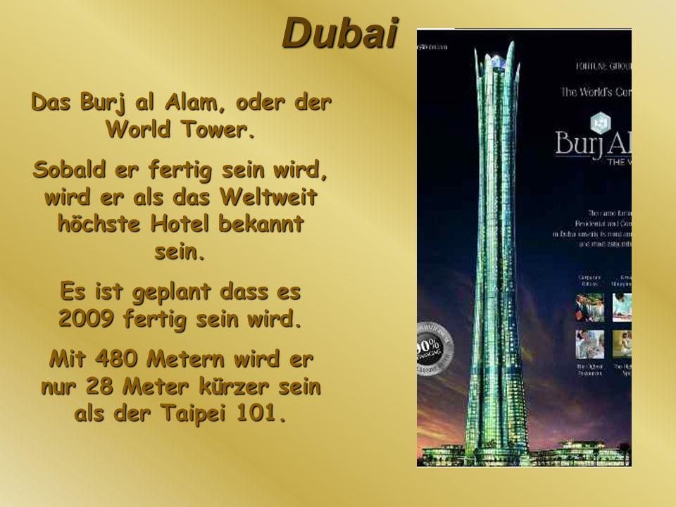 Dubai Das Burj al Alam, oder der World Tower. Sobald er fertig sein wird, wird er als das Weltweit höchste Hotel bekannt sein. Es ist geplant dass es