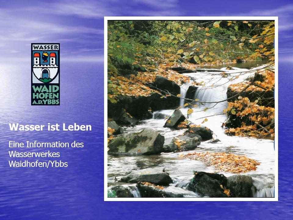Wasser ist Leben Eine Information des Wasserwerkes Waidhofen/Ybbs