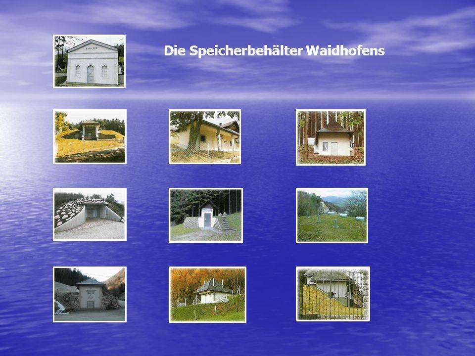 Die Speicherbehälter Waidhofens