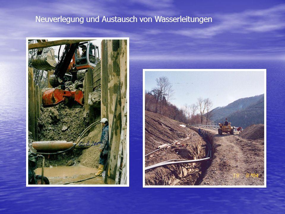 Neuverlegung und Austausch von Wasserleitungen
