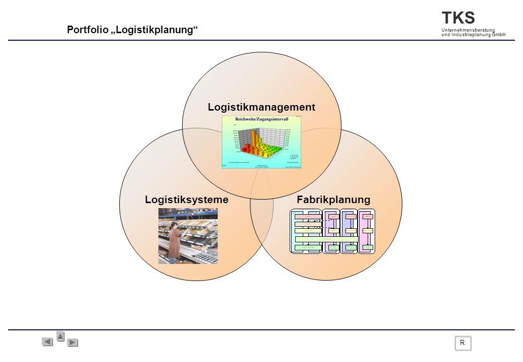 TKS Unternehmensberatung und Industrieplanung GmbH Portfolio Logistikplanung LogistiksystemeFabrikplanung Logistikmanagement R