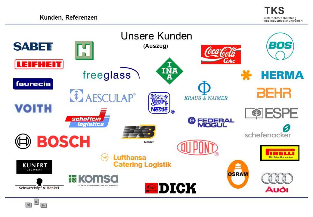 TKS Unternehmensberatung und Industrieplanung GmbH Kunden, Referenzen Unsere Kunden (Auszug)