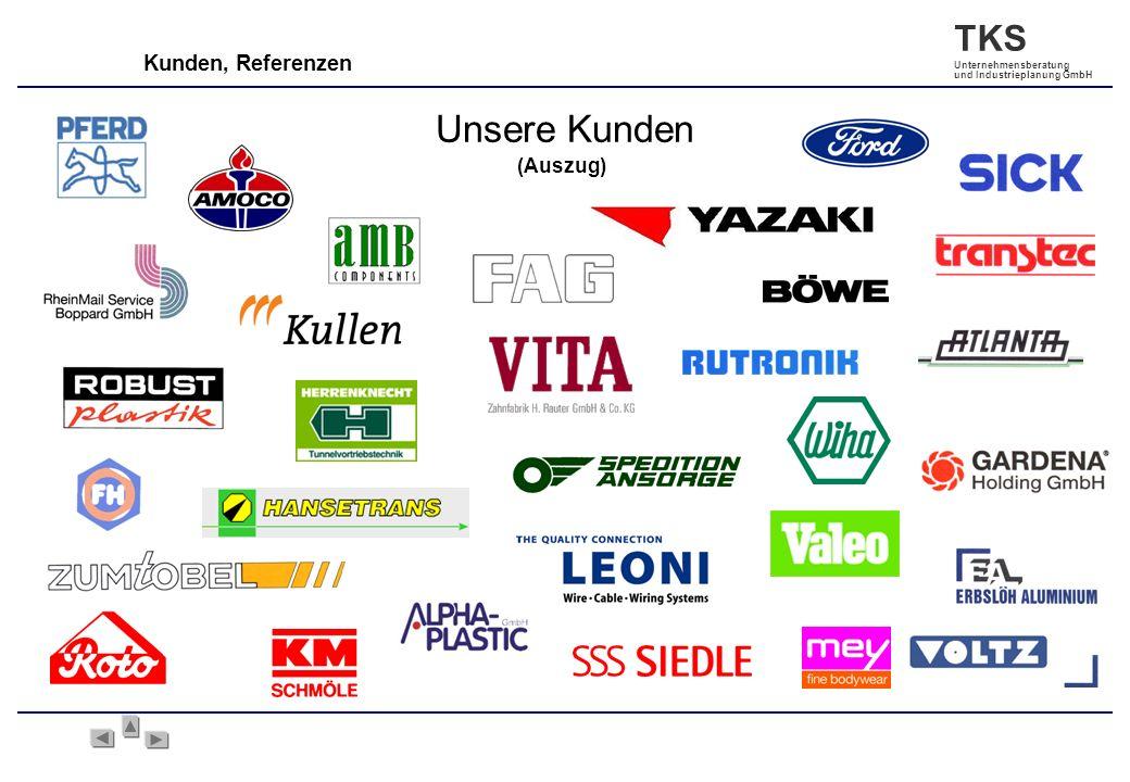 TKS Unternehmensberatung und Industrieplanung GmbH Kunden, Referenzen (Auszug) Unsere Kunden