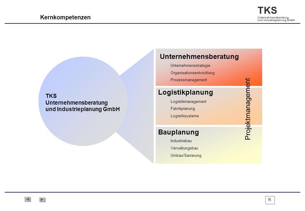 TKS Unternehmensberatung und Industrieplanung GmbH Kernkompetenzen Bauplanung Projektmanagement Unternehmensberatung TKS Unternehmensberatung und Indu