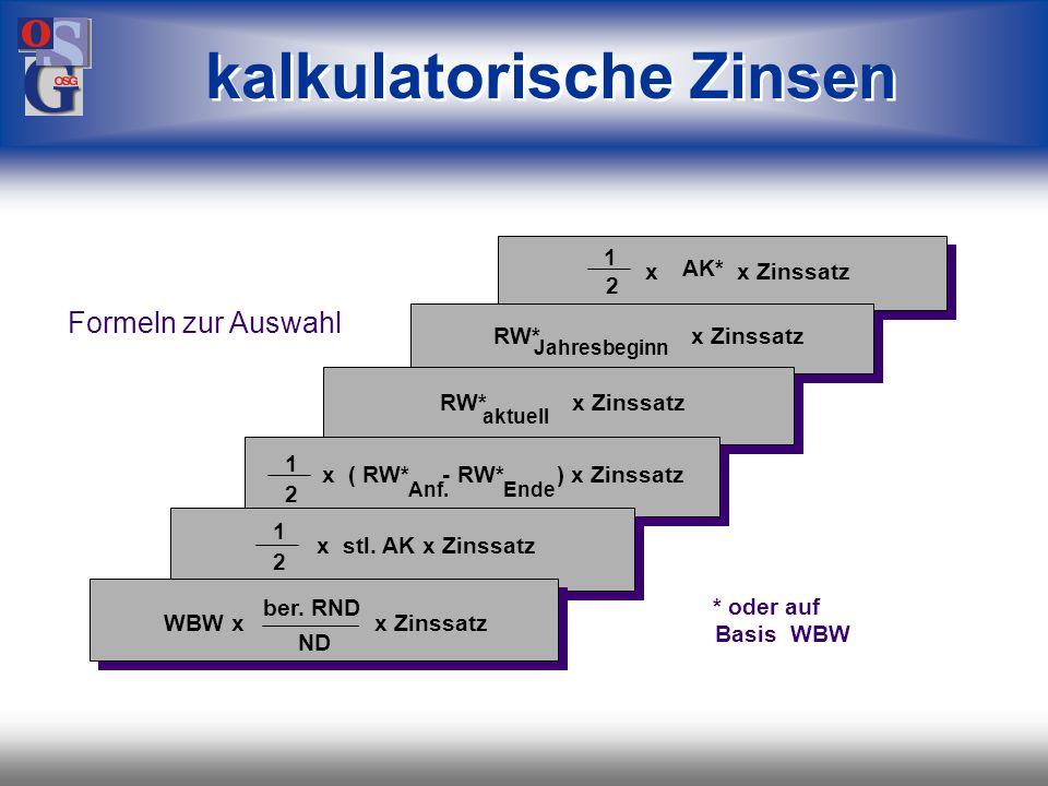 OSG 26 linear (W : n) von den Anschaffungs-/Herstellungskosten oder Wiederbeschaffungswerten (W), nach der Nutzungsdauer (n) solange Restnutzung vorha