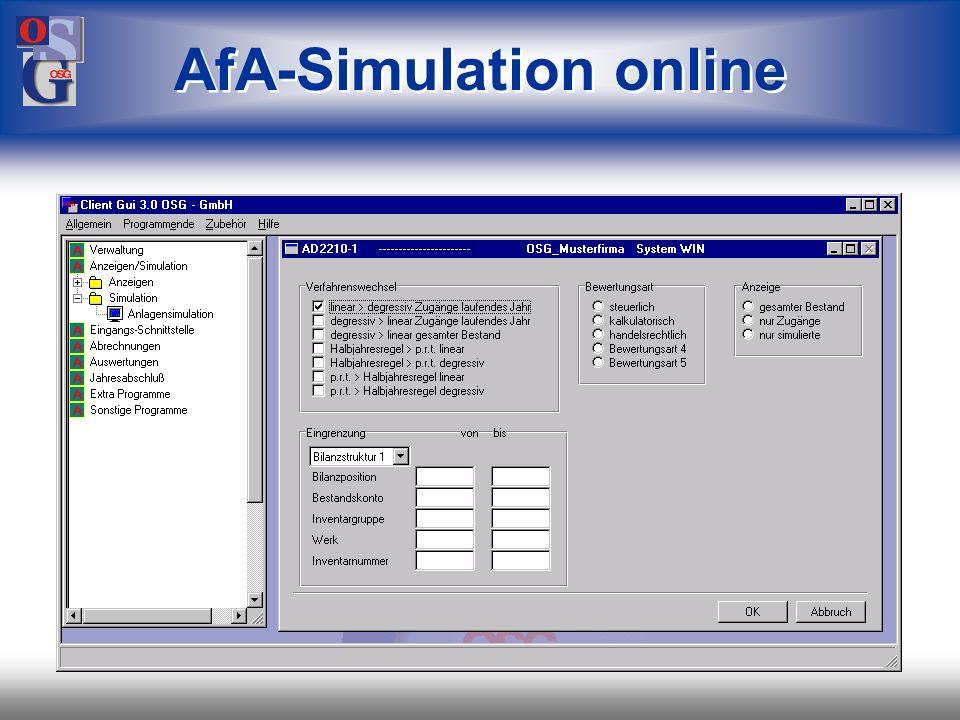 OSG 33 Simulieren Abschreibung