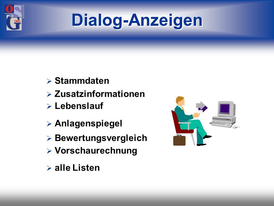 OSG 37 Darstellung der Ergebnisse in Listenform im Dialog mit Datenexport... auch über das Internet